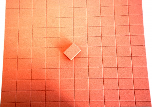 Tampon jetable, orange 100/100 grain 150 pcs. (1 couche)