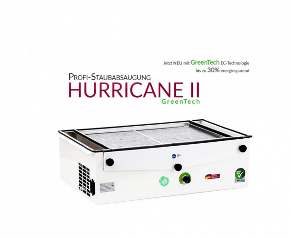 Aspirazione professionale della polvere HURRICANE II GreenTech