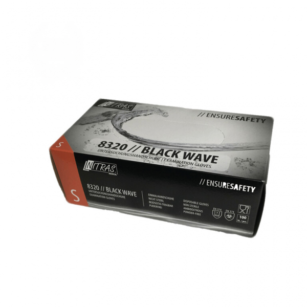 Guanti monouso in nitrile Black Wave 100st